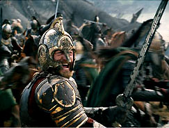 King Theodon at the Battle of Pelinor Fields